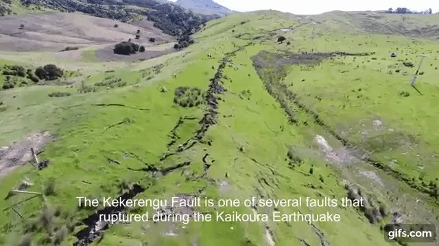 Scars left behind: Giants cracks from NewZealand earthquake (DRONE FOOTAGE)