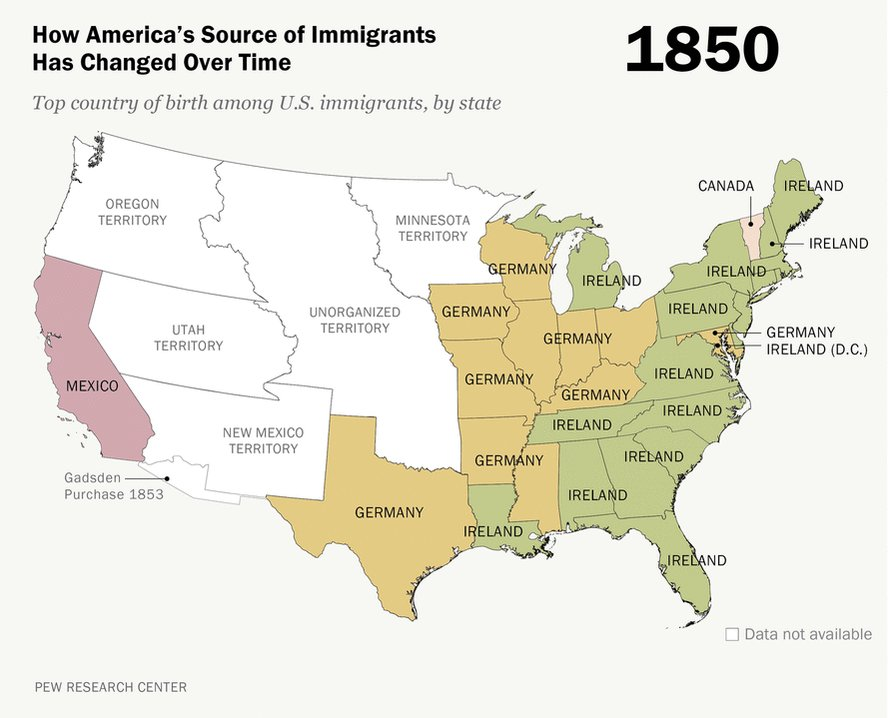 How America's source of immigrants has changed over a century https://t.co/sGQ8QAVBXv https://t.co/5htcqmQaqK