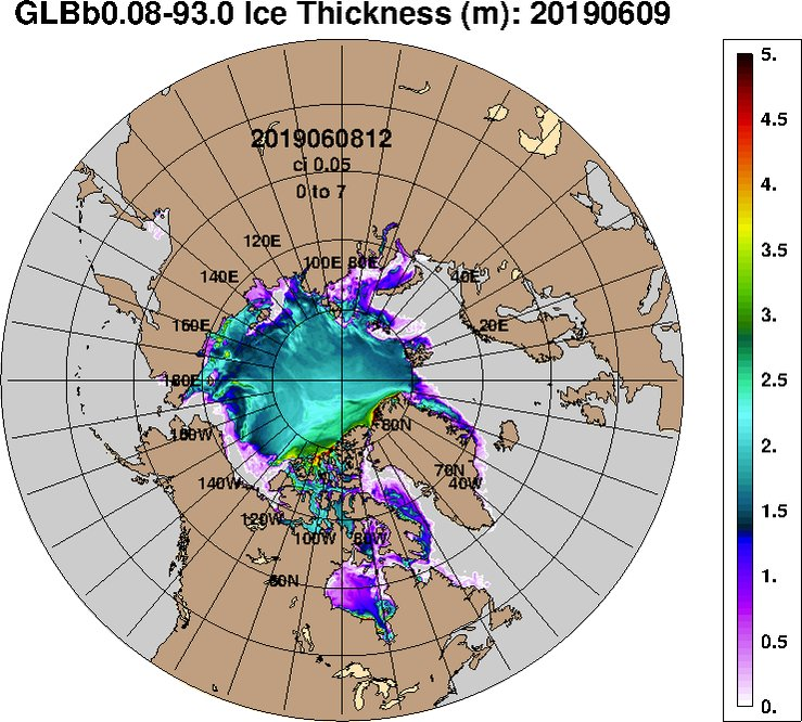 Original Navy Arctic sea ice thickness animation. https://t.co/BMjSaV9X0B