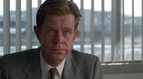 Happy birthday William H. Macy. Always great, but my favorite among his roles remains the one in Fargo. Superb.