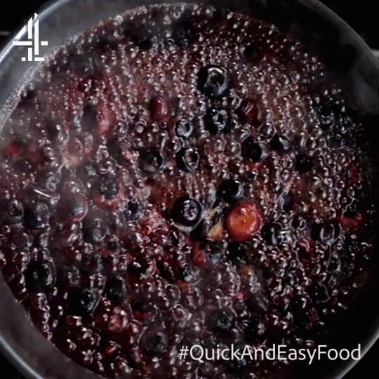 Blueberries + a splash of water + high heat = the most deliciously jammy sauce!   #QuickAndEasyFood https://t.co/LJEFPI80AK