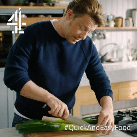 Slice the leek in half and then in quarters, lengthwise. https://t.co/4II0F5Hw3K