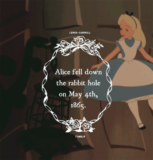 RT @Jacopo_della_Q: This needs to be a hashtag. But... what?  #WritingCommunity #MaytheFourth #AliceinWonderland https://t.co/DwXuXQ21qX