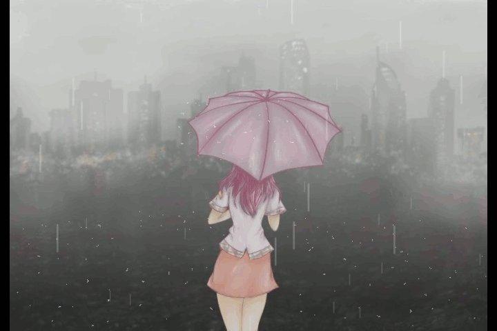 """""""Falda contra piel, un frío entre las piernas, breve tempestad.""""  #haiku que no encuentra resguardo para la lluvia.  Gif: Sin Fuente. https://t.co/gH5zE30e4X"""