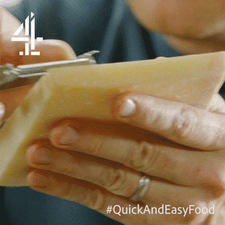 #TIP ALERT: Use a speed peeler to create beautiful little curls of Parmesan cheese! ???? #QuickAndEasyFood https://t.co/fEjGGRUSkn