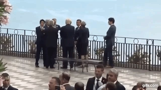 Seven? More like 6+1 Justin #Trudeau left out as #G7 leaders huddle (VIDEO)