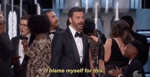 And the winner for host of the 2018 Oscars La Land...JK it's Jimmy Kimmel: