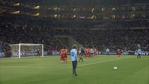 Happy 3 8 birthday to Diego Forlan.  And that master-piece free-kick against Ghana in the 2010 World Cup