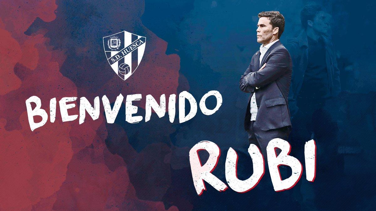 RT @SDHuesca: FICHAJE   Rubi, nuevo entrenador 😃  📝 https://t.co/r49WTZ7He2 #SDHuesca  ¡Bienvenido, míster! 👋🏻 https://t.co/7rmnANFteB