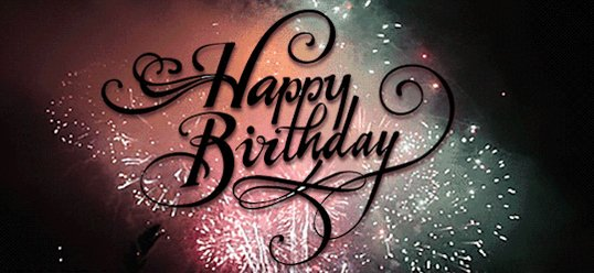 HAPPY BIRTHDAY!!Have an awesome day!