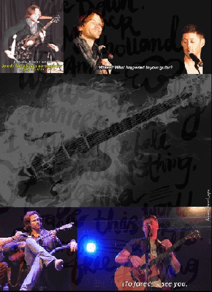 RT @demon_heart_spn: Then~Now... ..Jared..the Guitar🎸..and Jensen  #J2 #FlashbackFriday #SpreadLove #FF https://t.co/jbnE1RK0a5