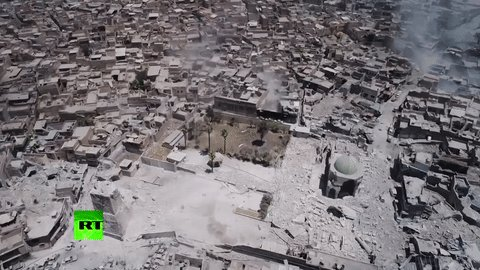 Drone over Mosul reveals massive extent of old city's destruction (VIDEO)