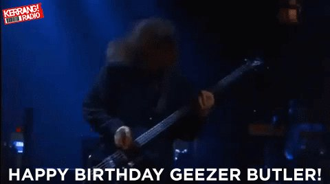 Happy birthday to the legendary Geezer Butler of  THE HAND OF DOOM