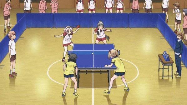 灼熱の卓球娘の卓球娘と卓球娘がダブルスで卓球娘の卓球してる作画ほんとの卓球みたいな動きで凄い