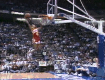 """Happy birthday to Spud Webb! What he could do at just 5\7\"""" was incredible..."""