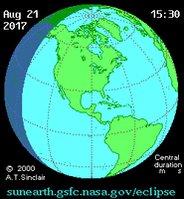 21 de agosto. Eclipse total de #Sol en #EEUU y parcial en #España. vía @CielosBoreales