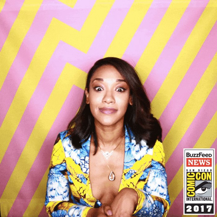 Love @candicekp in @BuzzFeed's #SDCC GIF booth #TheFlash