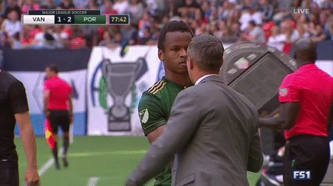 RT @TimbersFC: Great shift from the kid, @kingjebo! 👏 @Jb94Barms replaces him in the 78th minute. #RCTID #VANvPOR https://t.co/HJ4hKFMKis