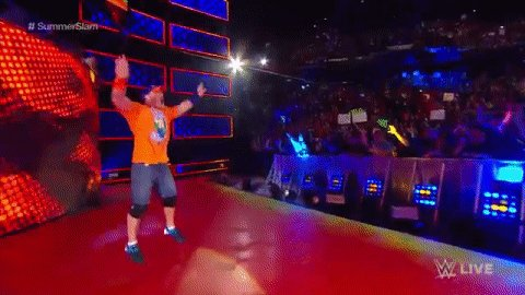 Something's brewing... HERE COMES @JOHNCENA! #SDLive #SummerSlam