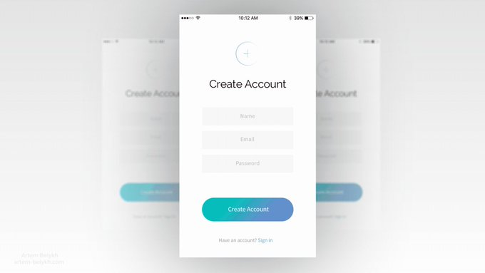 Sign In freebie layout PSD AE Idea UI animation ios