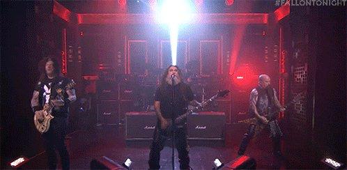 ".@Slayer rocks the Tonight Show with ""Raining Blood"" #SlayerOnFallon #FallonTonight"