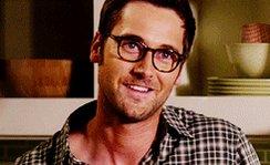 Happy birthday handsome! School teacher Tom with glasses = swoon.