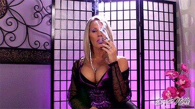 #MILF Showing #Cleavage #Smoking #VS120 in #Lingerie #EroticNikki uemzt9BxiE
