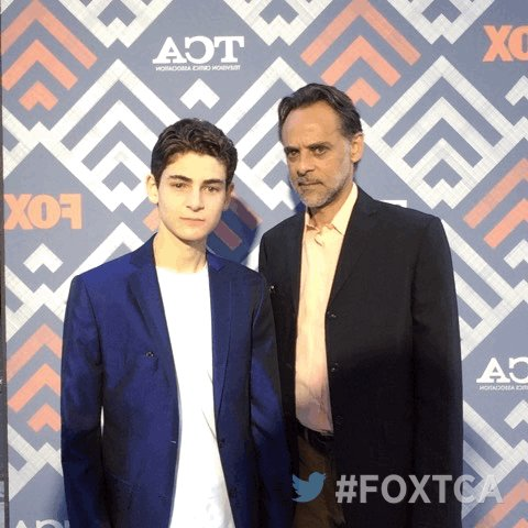 At the #FOXTCA All-Star Party with @realdavidmazouz! 🎉