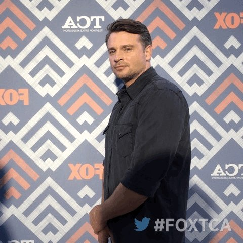 At the #FOXTCA All-Star Party with Tom Welling! 🎉 @LuciferonFOX #Lucifer