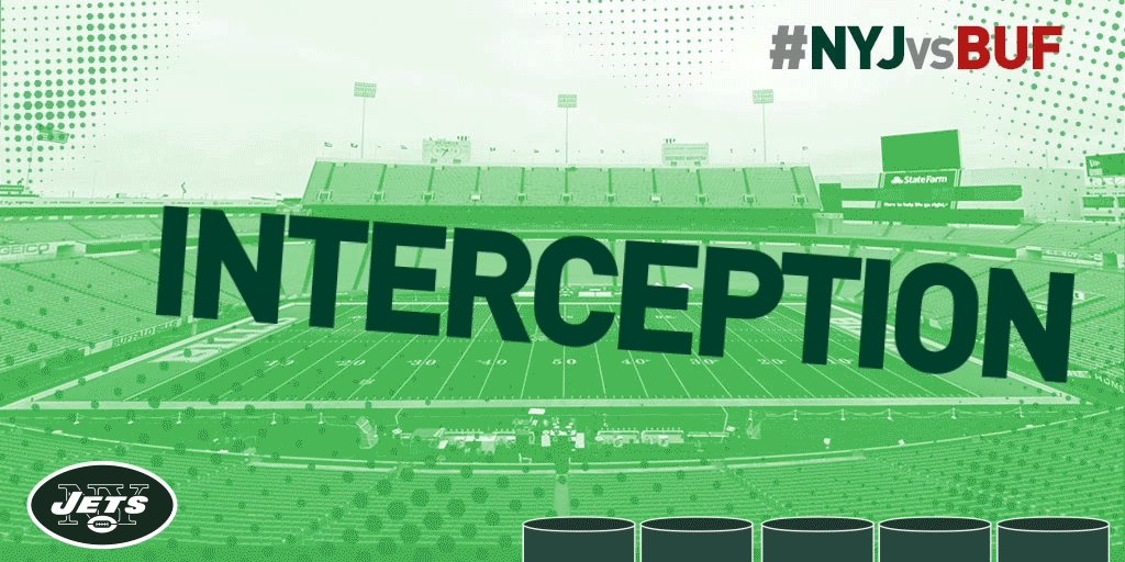 First takeaway of the season.@JdotBurris32 picks off Taylor in the end zone. #NYJvsBUF