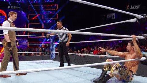 RT @WWE: WHAT IS GOING ON?!?  #205Live @GentlemanJackG @CedricAlexander @mrbriankendrick https://t.co/NNvdO1hEyX