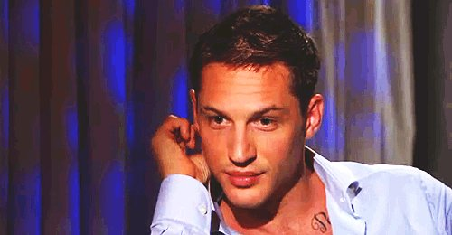 "Happy birthday to my favorite human Tom Hardy        ""i love you Tommy\"""