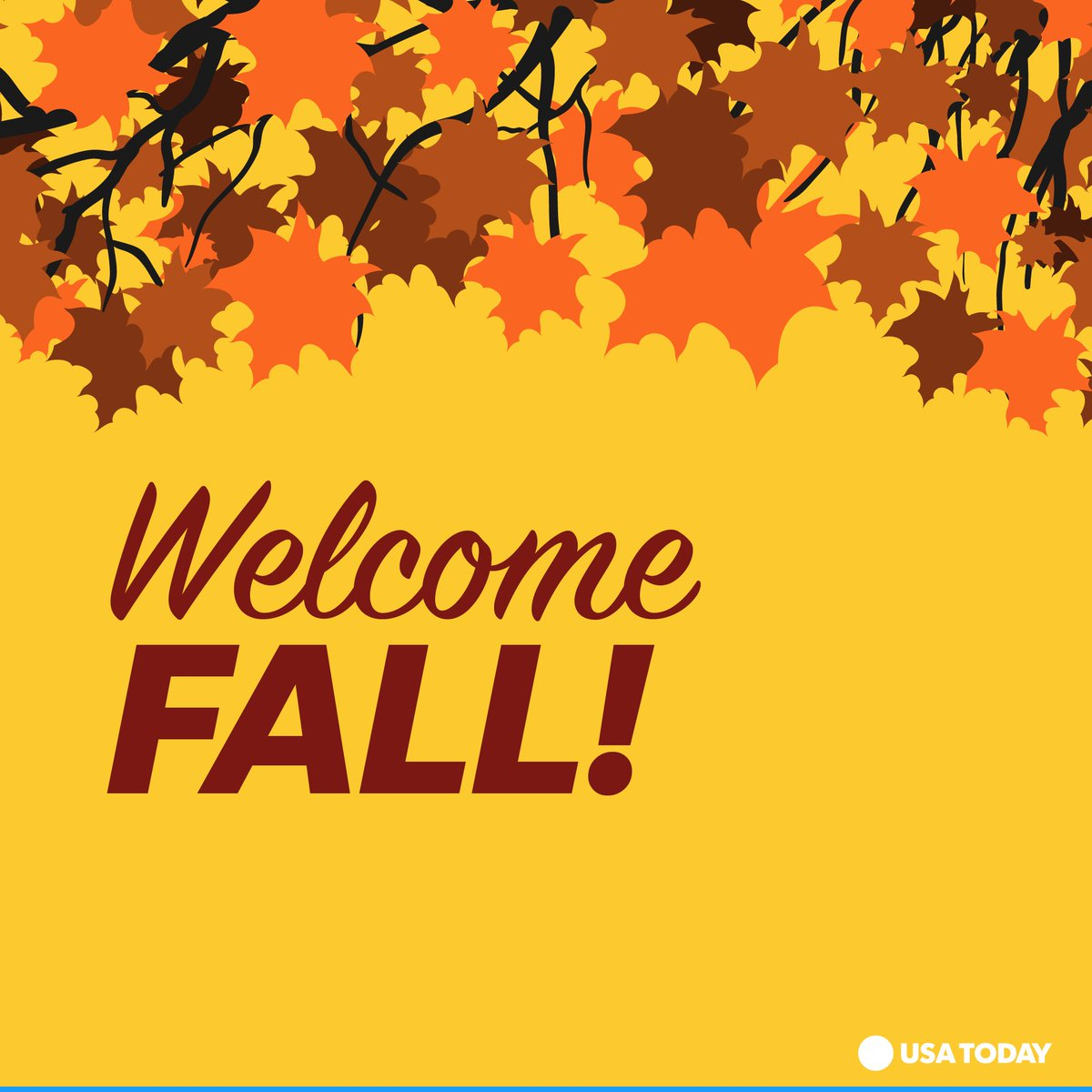 Break out the pumpkins, colorful leaves and crisp walks. #FirstDayofFall #AutumnEquinox