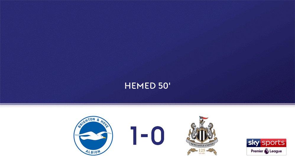 GOAL! Brighton & Hove Albion 1-0 Newcastle United Live on Sky Spor...