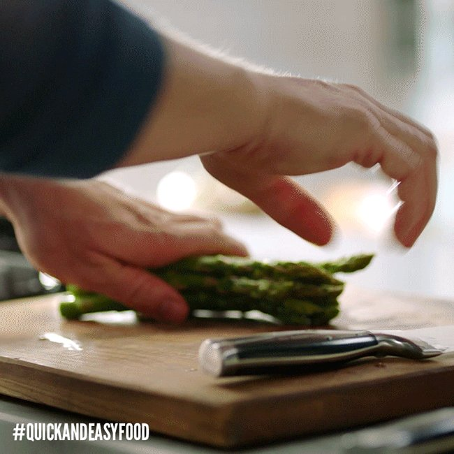 Asparagus tips. The best form of vegetable advice. #QuickAndEasyFood h...