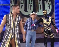 Happy birthday to the Late Great Dusty Rhodes here\s him with his sons &