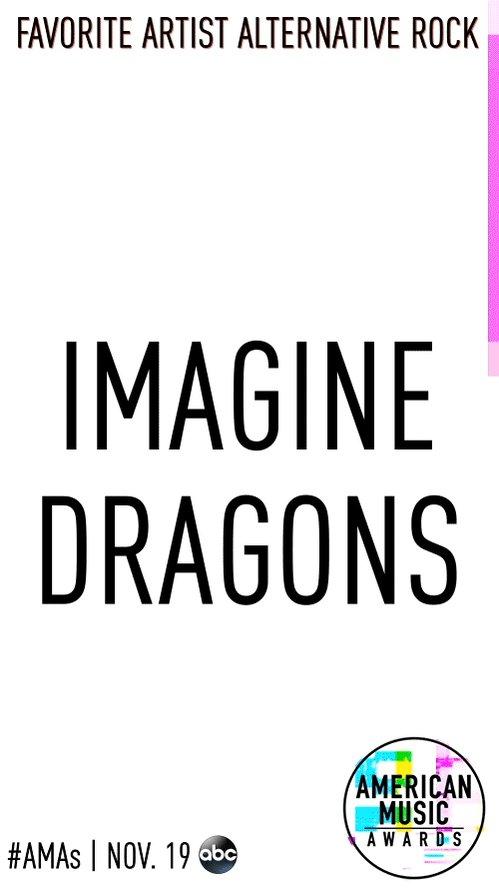 #AMAs Favorite Artist Alternative Rock nominees ⚪️ @Imaginedragons ⚪️ @linkinpark ⚪️ @twentyonepilots