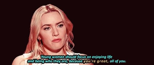 Happy Birthday to an incredible actress and human being. One of my inspirations in life. Kate Winslet.