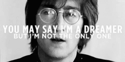 Happy 77th birthday John Lennon, always a dreamer.