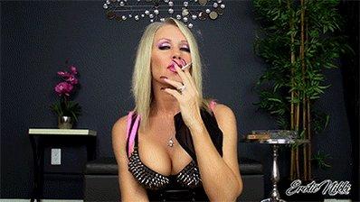 My #Smoke Makes you Spend #FinDom #Cleavage #Smoking #EroticNikki YtsF80toHg
