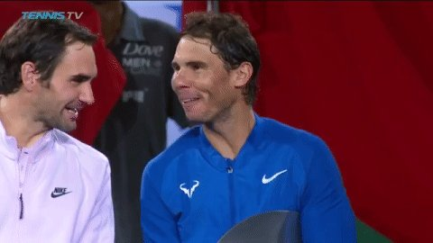 RT @TennisTV: These two 😆  #SHRolexMasters https://t.co/T1fAzCBwog