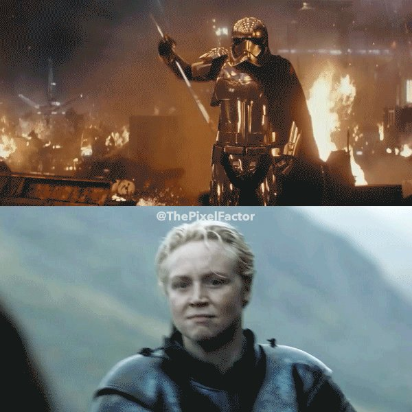 RT @ThePixelFactor: Captain Phasma of Tarth #TheLastJedi #GameOfThrones @lovegwendoline https://t.co/Tuaogb0ztP