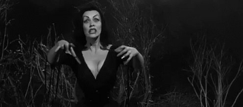 Being turned into Vampira RN...Will post pics later if it goes well. 😋🖤🖤 #halloweenrules 🎃🤘🤘🤘 https://t
