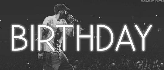 Happy birthday to eminem such a badass..