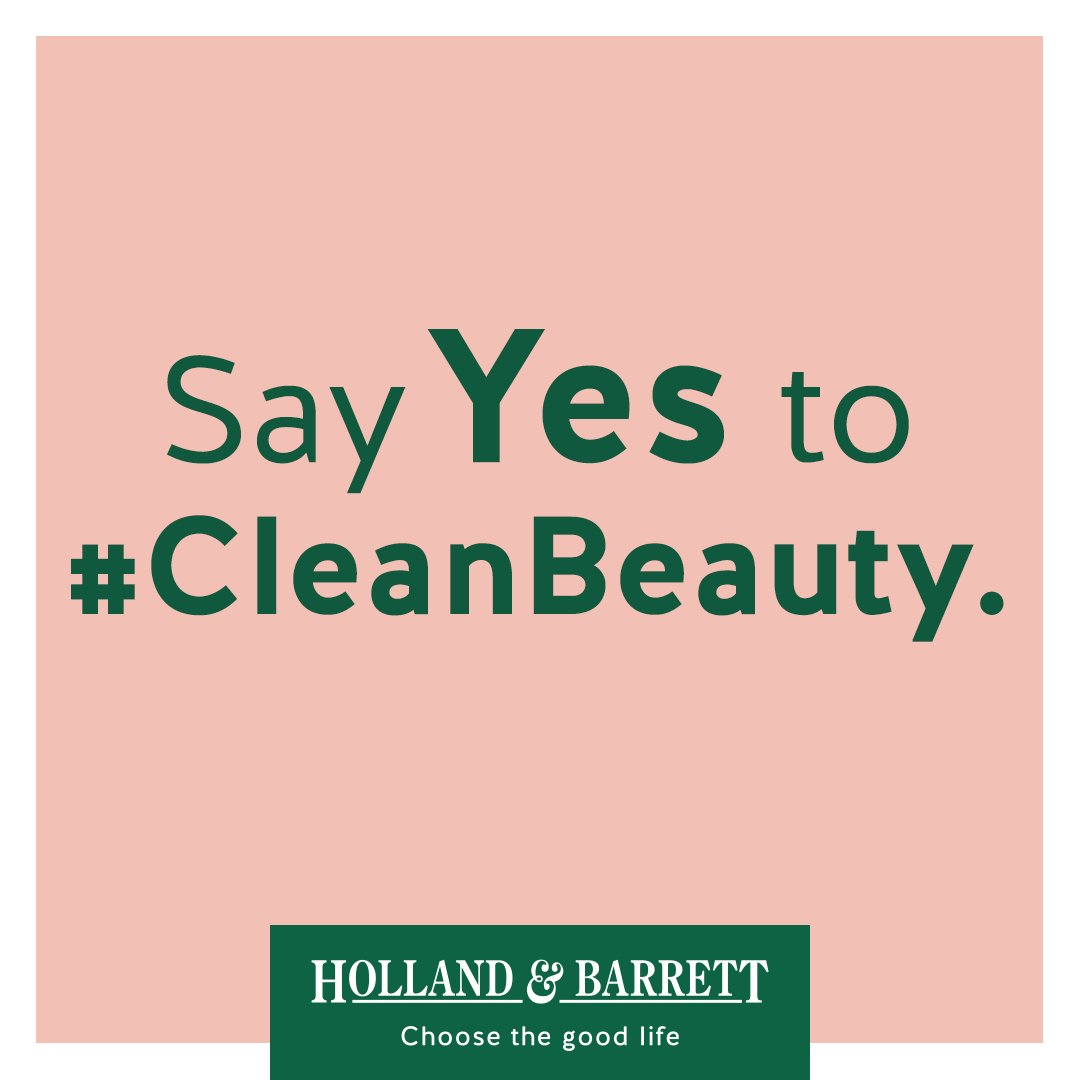 We're saying YES to #CleanBeauty! Are you? 💚🍃👌 https://t.co/lQxL6yOGUQ