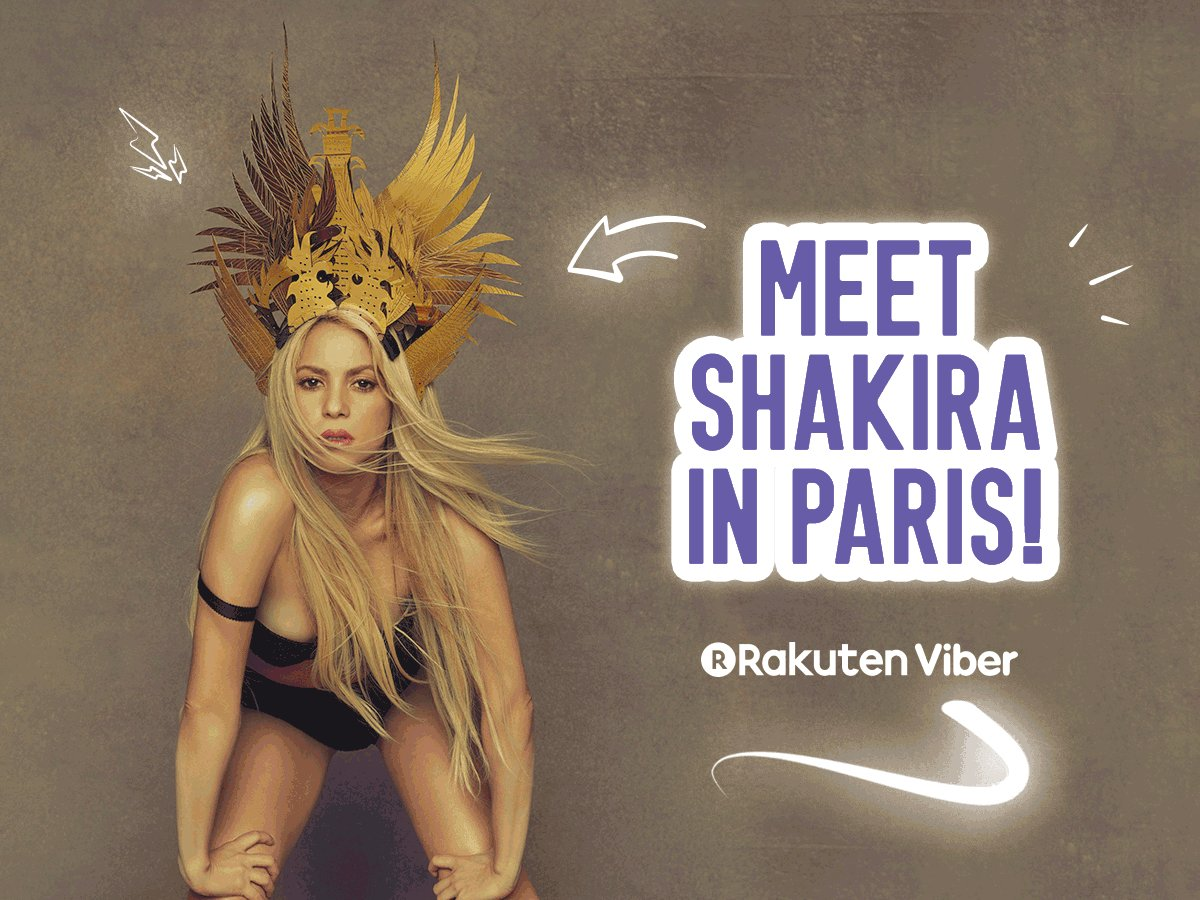 ✈ Win a trip to Paris & meet Shakira! Enter here @Viber ???? https://t.co/ip9Rd58s1x ShakHQ https://t.co/jVKsHH4sGj