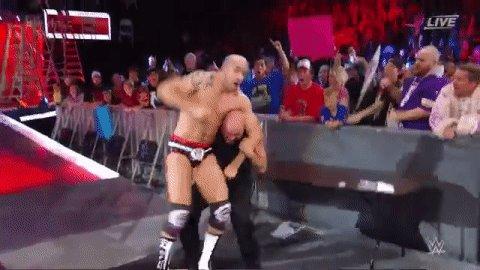 RT @WWE: 🏅🏅🏅🏅  @RealKurtAngle is BACK! #WWETLC https://t.co/fxMXkVn63k
