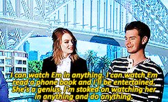 How wish an happy birthday to emma stone: a guide by her biggest fan, Andrew Garfield