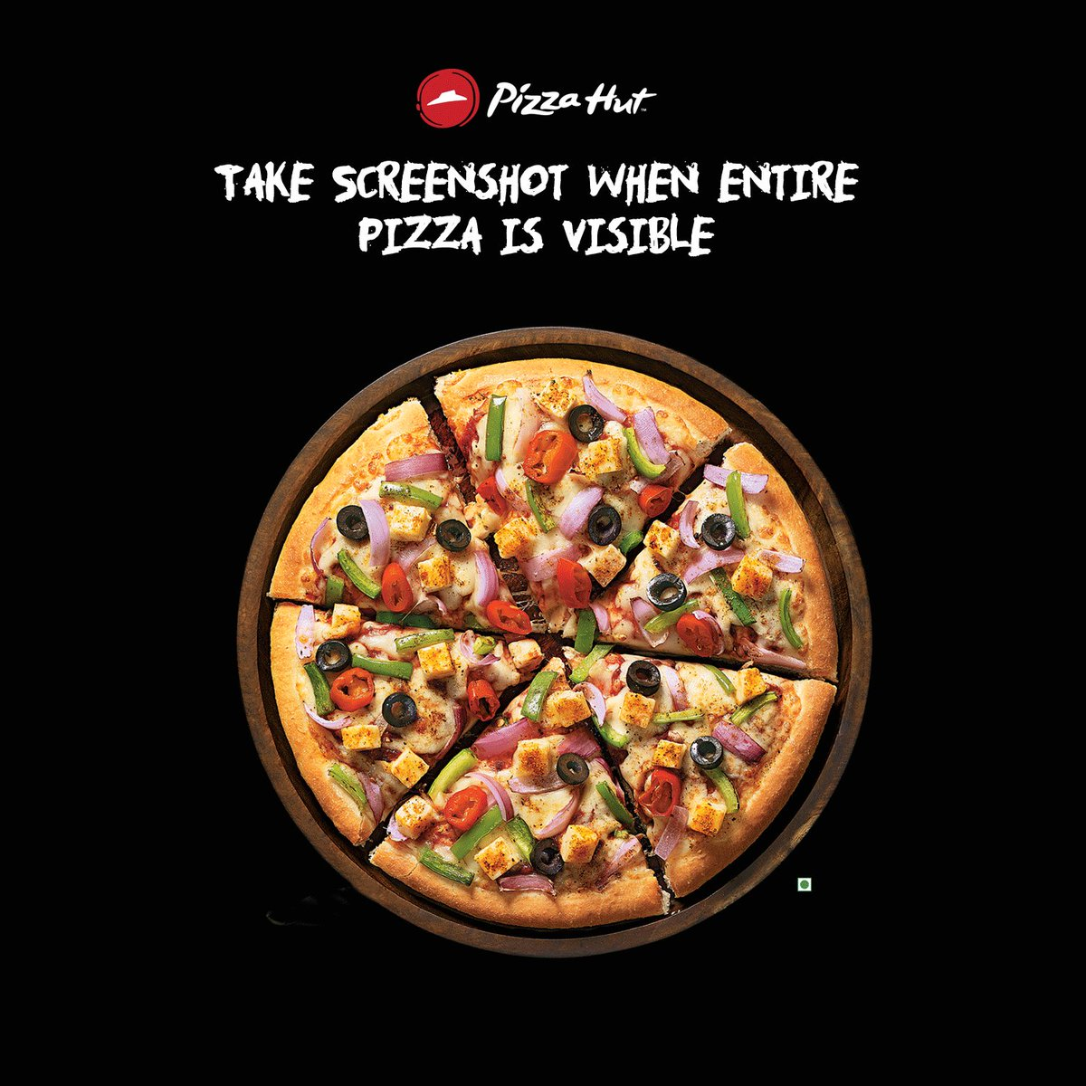 Are you quick enough Take a screenshot when the entire pizza becomes visible and comment below. https t.co 6H2wSK83sQ