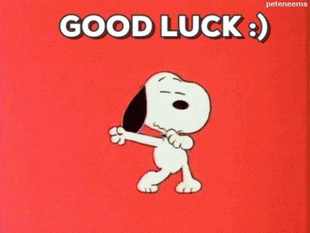 Good luck! Happy bday!!!